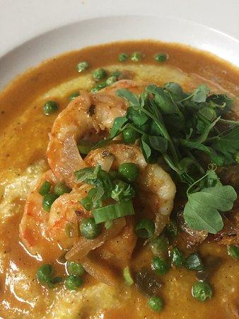 Saugerties, Estado de Nueva York: Real Lousiana Shrimp and Local Hudson Valley Grits