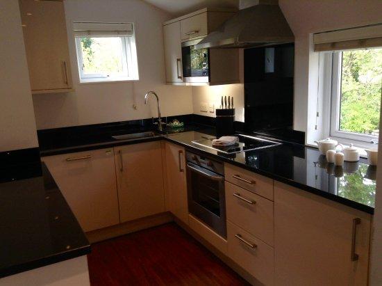 The Cornwall Hotel Spa Estate Kitchen With Fridge Freezer Dishwasher