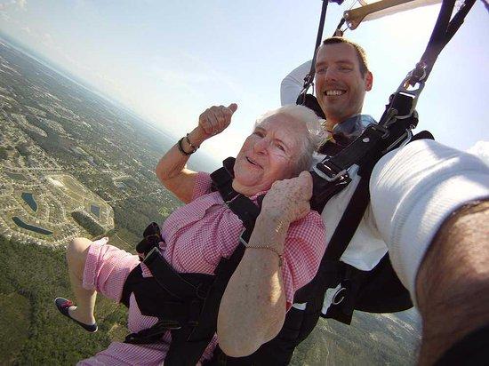 Littleton, MA: Nana's 93'rd Bday Jump!