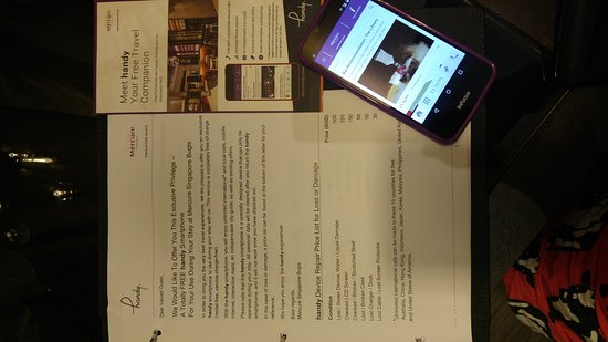 Handy Handphone For Guest To Use Now Grand Mercure Roxy Using It
