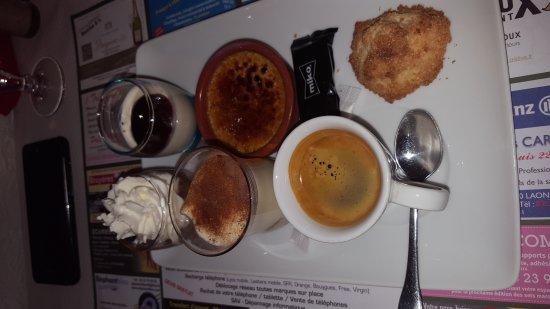 Laon, Francja: Cafe gourmand