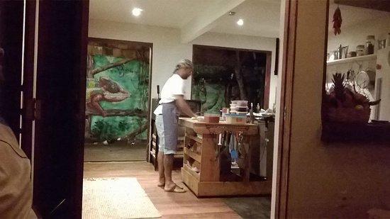 Morere, BA: Assistindo a pizza sendo preparada