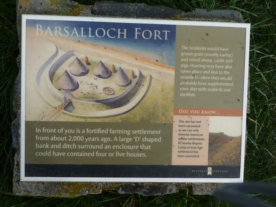 Port William, UK: Information board at fort