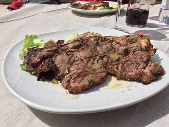 Peio, Italia: Tagliata alla griglia