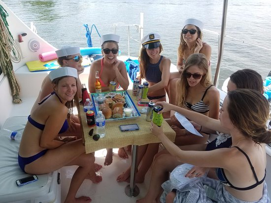 Edgewater, MD: Popular with bachelorette parties.