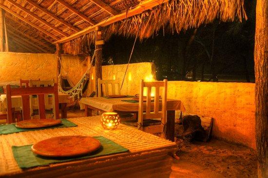Tofo, โมซัมบิก: Dining Area