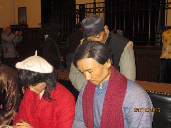 Shenyang, China: Locals  at the bank
