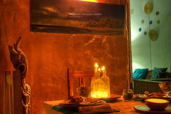 Tofo, Mozambique: Dinner Table