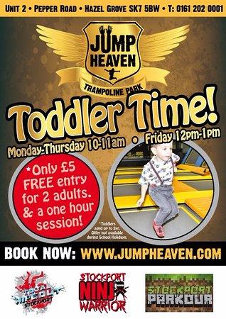 Stockport, UK: We offer Toddler Time sessions at Jump Heaven, visit our website for details!