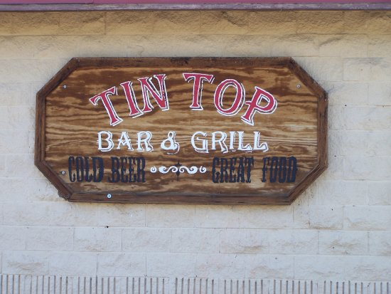 Sign across from the Tin Top (STOPP?) - Picture of Tin Top ...
