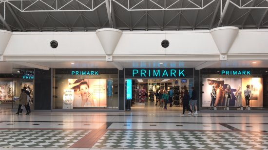 Uxbridge, UK: Primark viewed from inside the Pavillions Chequer's Square