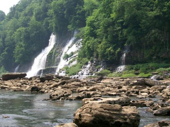 Cookeville, TN: These are part of the waterfalls at Rock Island, TN