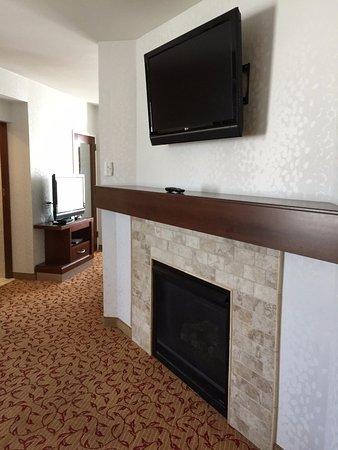Logan, UT: Living room - fireplace