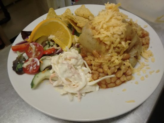 Jacket Potato With Cheese And Beans Picture Of Cafe Rendezvous