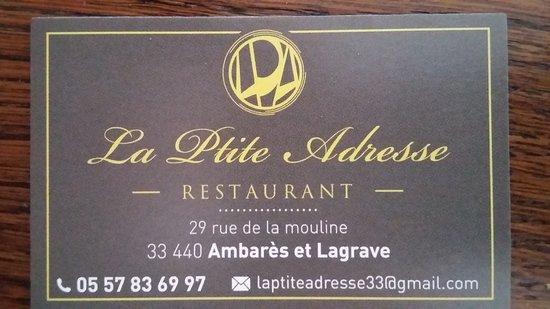 Ambares-et-Lagrave, Fransa: La Ptite Adresse