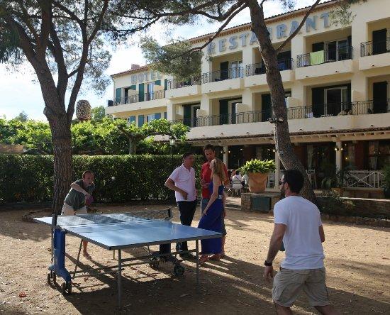 Hotel de la Plage - HDLP : HDLP jardin et détente. Convivialité. Tennis de table à l'ombre des pins.