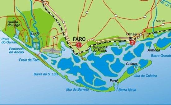 mapa da ria formosa Ria Formosa Map   Picture of iSea Boat Charter, Faro   TripAdvisor mapa da ria formosa