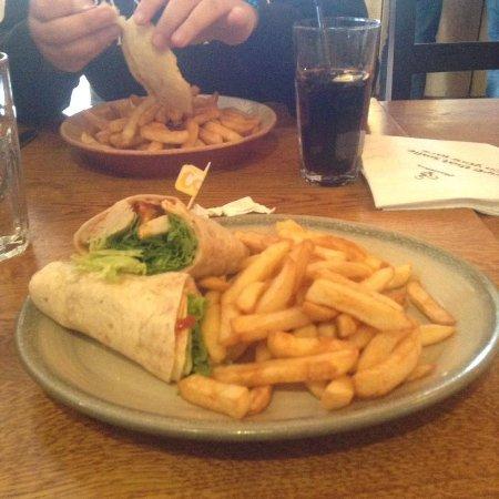 Stevenage, UK: Medium chicken wrap