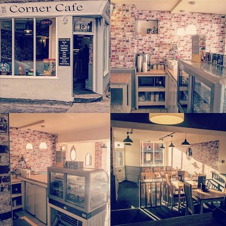 Oswestry, UK: Welcome to The Corner Cafe. Warm, friendly and modern/vintage atmosphere.