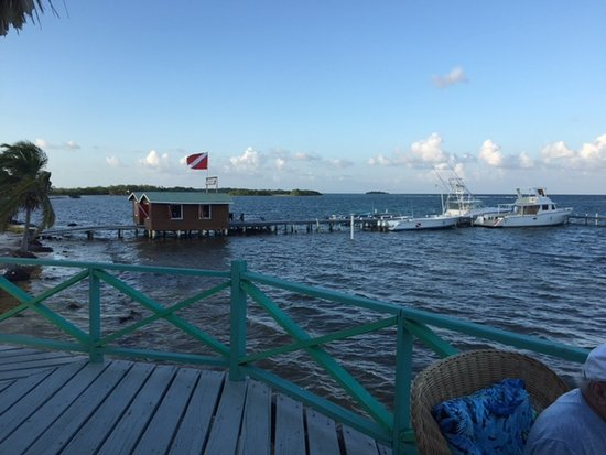 Turneffe Island, Belize: View from palapa deck