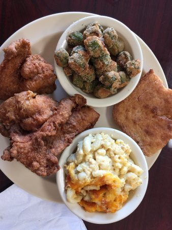 Valdosta, GA: Fried Chicken, Okra, Mac N Cheese, Cracklin Bread...