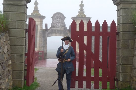 Louisbourg, Canada: guarded gate
