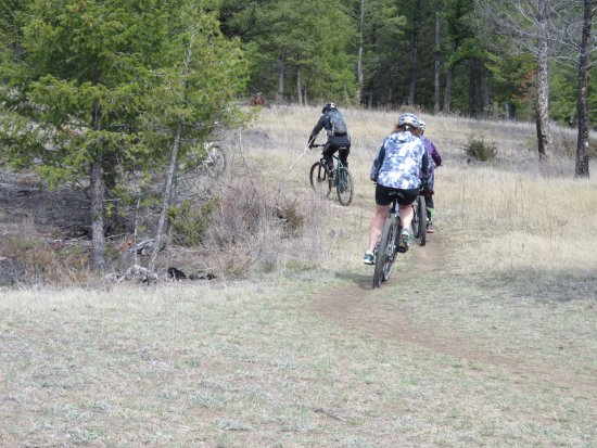 Radium Hot Springs, Canada: Lots of mountain bikers