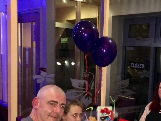 Market Drayton, UK: Celebrating Birthday Party at Oruna.
