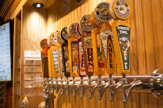 Roscoe, NY: Trout Town Beer tap handles.