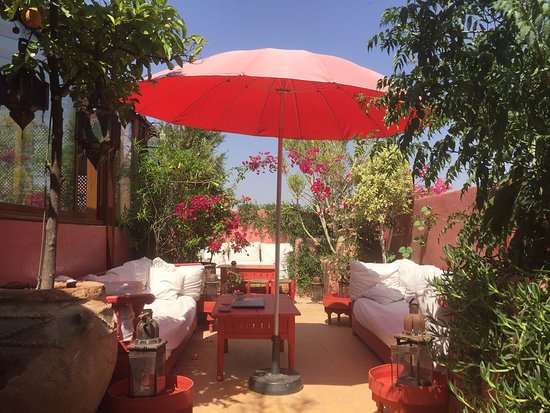 roof terrace picture of riad la terrasse des oliviers marrakech tripadvisor. Black Bedroom Furniture Sets. Home Design Ideas