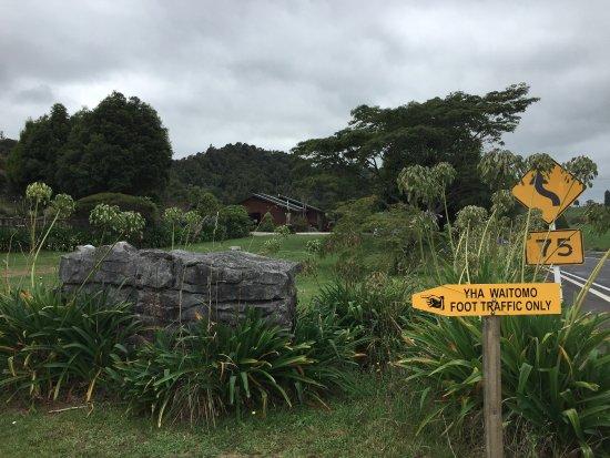 Te Kuiti, Новая Зеландия: the pedestrian access from the road