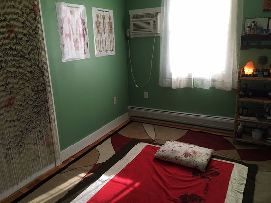 Waterbury, VT: Studio room set up for Thai Yoga Massage