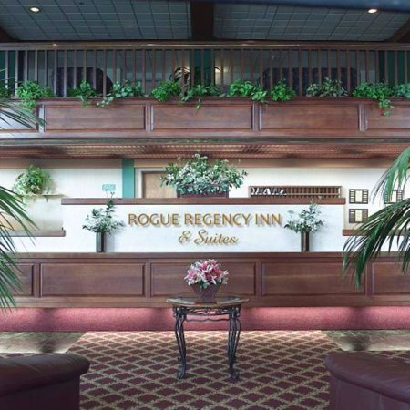 Rogue Regency Inn's lobby desk
