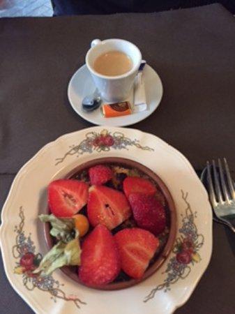 Lohkas : Crumble rhubarbe fraises