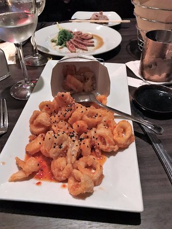 Freehold, NJ: Calamari & Shrimp (note the inventive presentation)