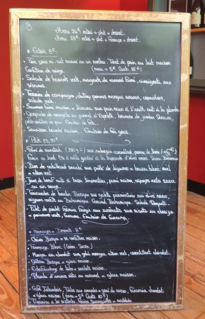 Solutre-Pouilly, Francia: Menu