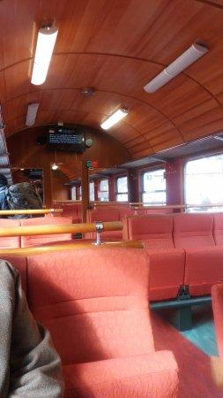 The Flam Railway: Train inside