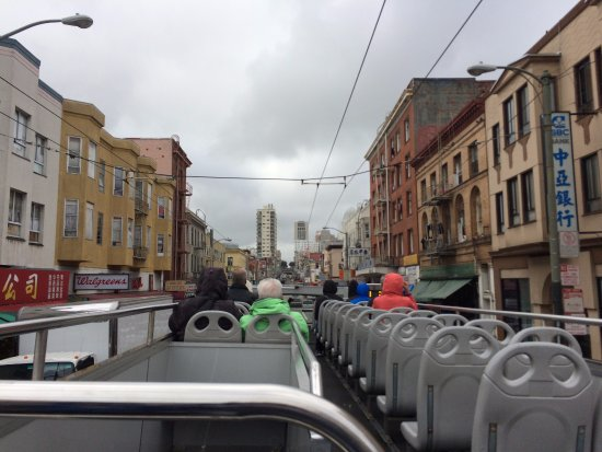 City Sightseeing: Top of the bus!
