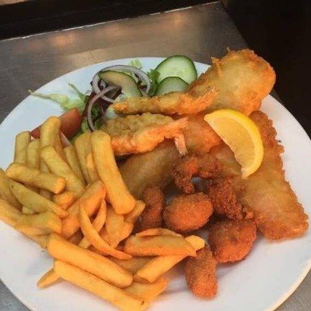 Tywyn, UK: Fish combo
