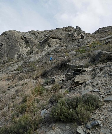 Alexandra, New Zealand: Walking down the very steep and narrow part