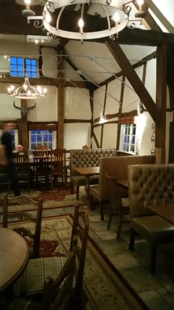 Henley-in-Arden, UK: A view of the larger dining room.