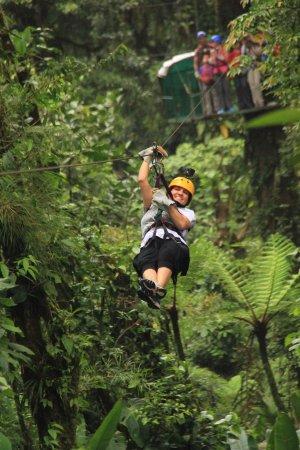 Playa Samara, Costa Rica: Brenda on a zipline