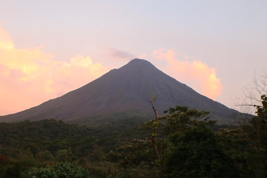 Gulf of Papagayo, Costa Rica: Arenal Volcano view from the dinner table