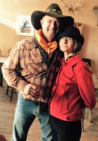 Cerrillos, NM: Friend Rod & Moma Edna