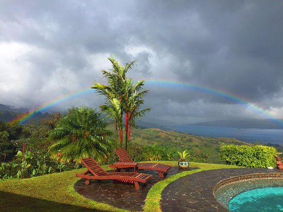 El Castillo, Costa Rica: The pot of gold at the end of the rainbow! View from breakfast area.