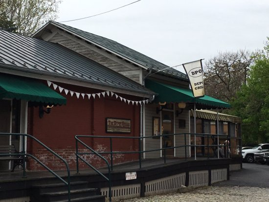 The Depot Grill: front entrance from parking area