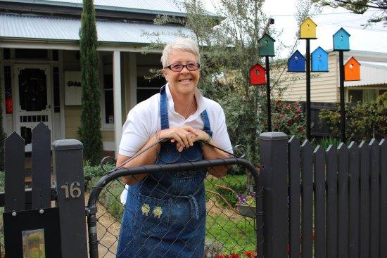 Rutherglen, Australien: Your hostess Kellie