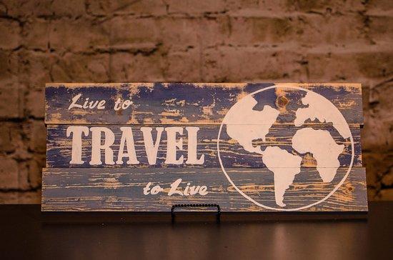 "Saint George, UT: Distressed ""Travel"" sign"