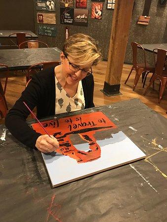 Saint George, UT: Co-Owner Susan paints this Utah Arches project!