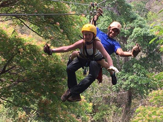 Rincon de La Vieja, Costa Rica: Superman style - ziplining